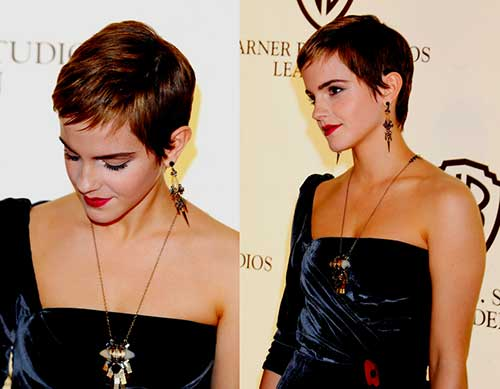 Emma Watson Long Pixie Cut Idea