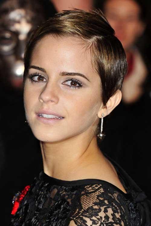 Emma Watson Side Swept Pixie Hair
