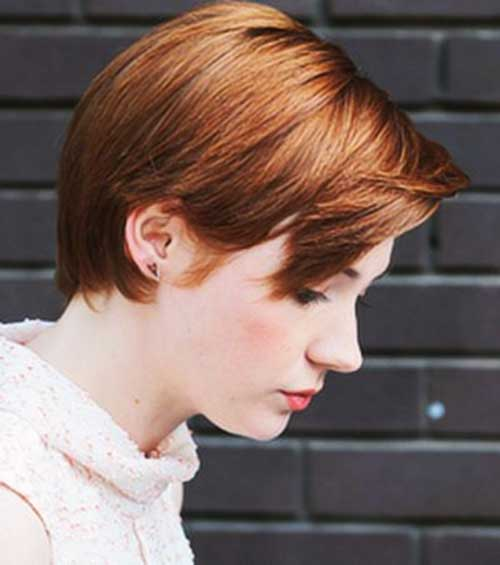 Female Copper Pixie Cuts