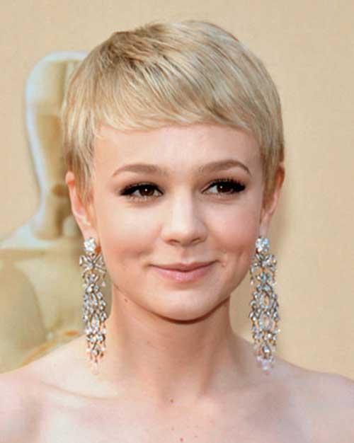 Feminine Fine Blonde Pixie Style