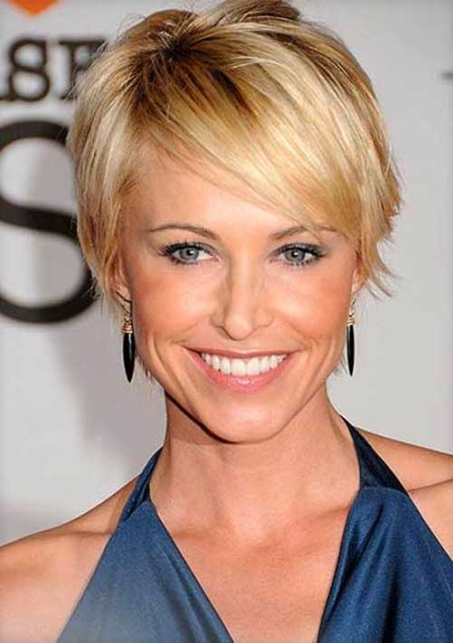 Fine Straight Pixie Blonde Hair