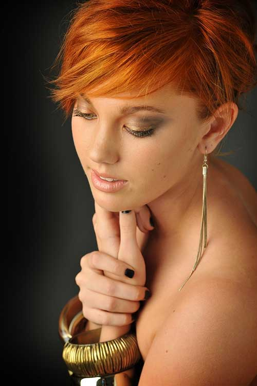 Funky Copper Pixie Cut