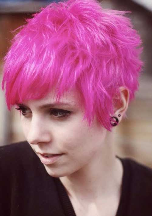 Funky Pixie Pink Hair Styles