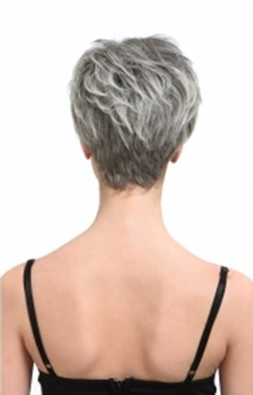Girl's Pastel Pixie Hair Back View