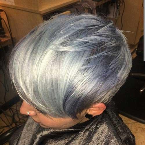Grey Pixie Hair Color Ideas