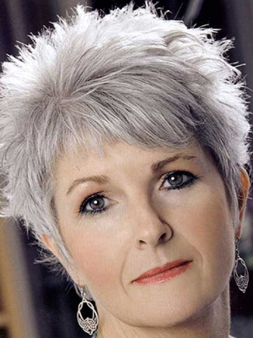 Grey Pixie Haircut Styles for Older Ladies