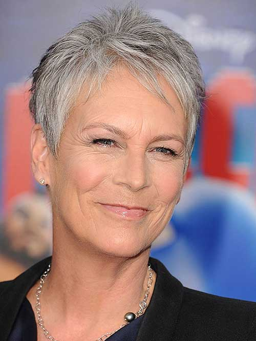 Grey Thin Pixie Hair Cuts