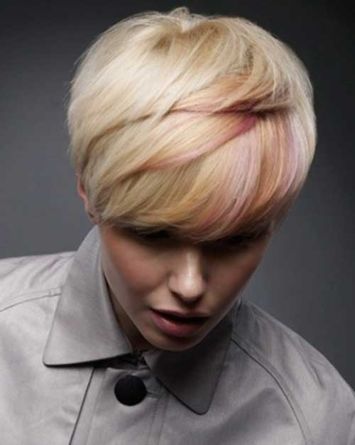 Highlighted Pink Pixie Hairstyle