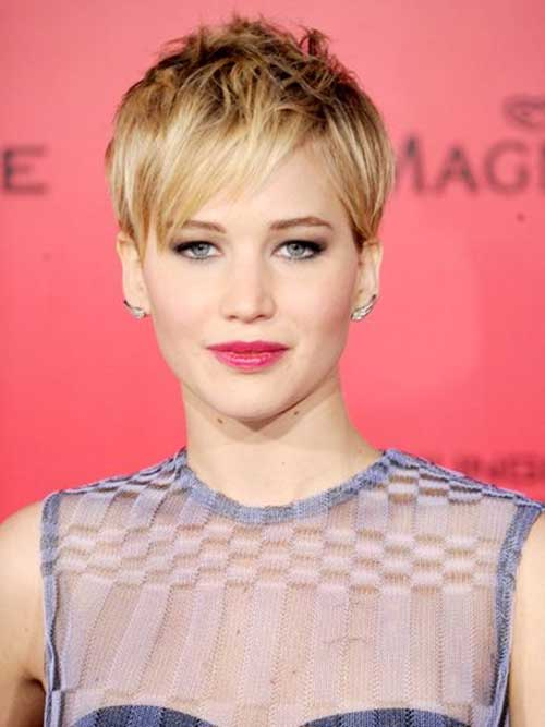 Jennifer Lawrence Fine Pixie Cut Ideas