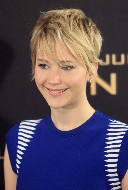Jennifer Lawrence Layered Pixie Cut