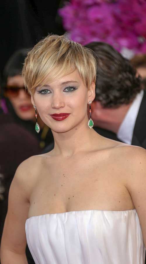 Jennifer Lawrence Straight Pixie Style
