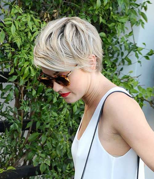 Julianne Hough Layered Pixie Cuts