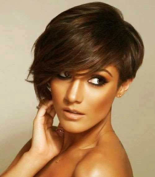 Ladies Asymmetrical Pixie Hair
