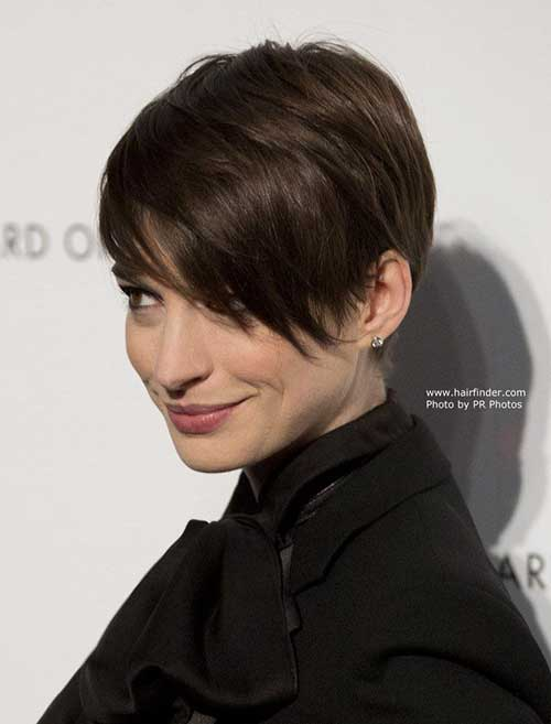 Layered Pixie Cut with Long Bangs Ideas