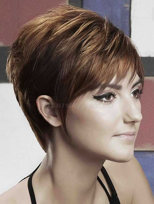 Layered Short Pixie Cropped Haircut