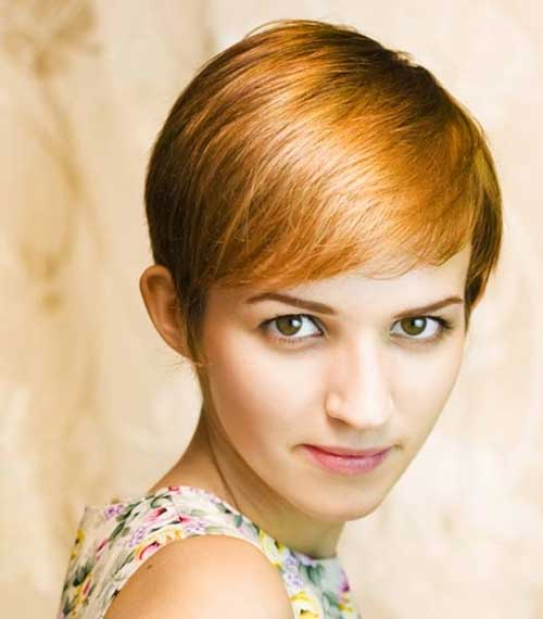 Light Auburn Color Pixie