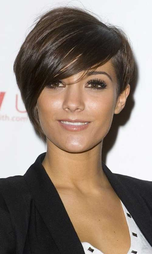Long Pixie Hair Cut with Side Bangs