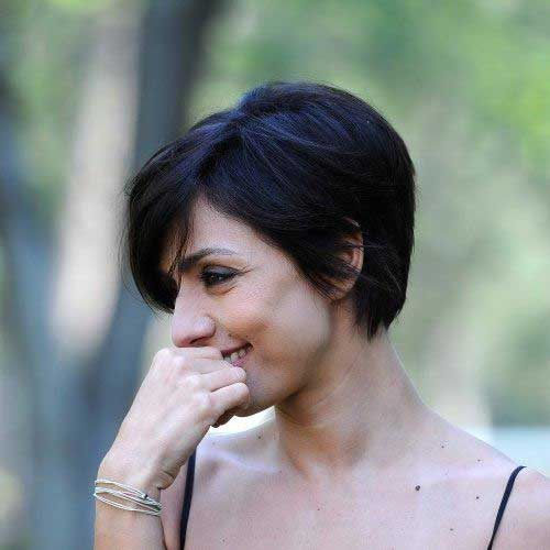 Long Pixie Straight Dark Hair Ideas