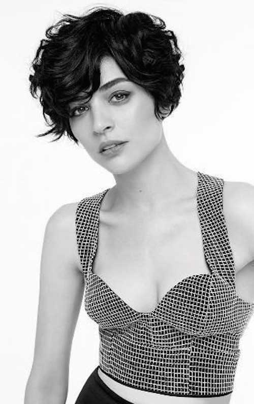 Long Pixie Wavy Dark Hair Cuts