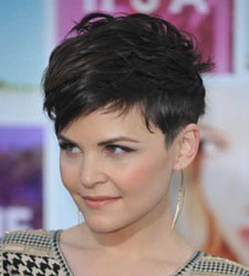 Medium Dark Wavy Pixie Hairstyles
