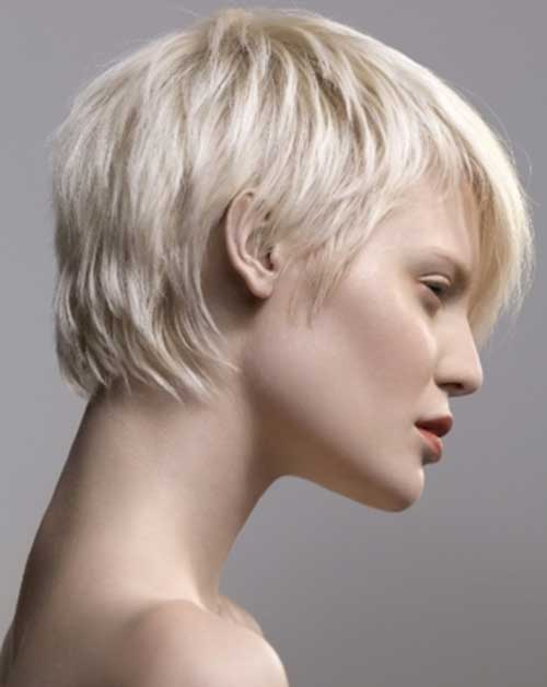 Modern Blonde Pixie Haircuts Side View