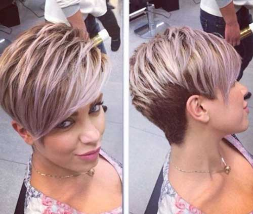 Modern Highlighted Pixie Hair Idea