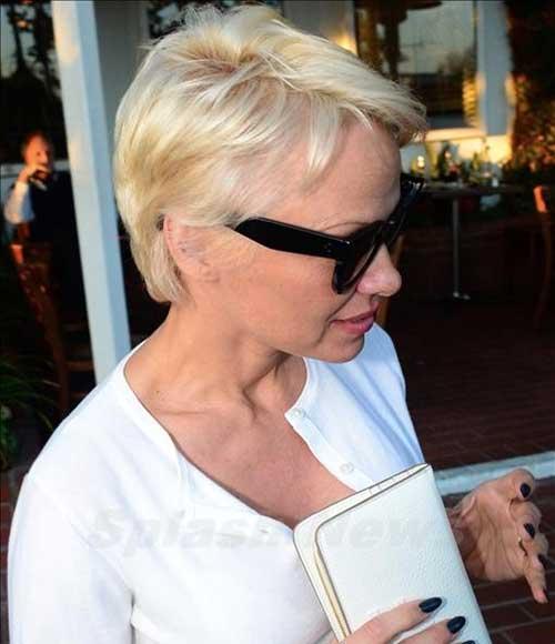 Pamela Anderson Pixie Cut Style