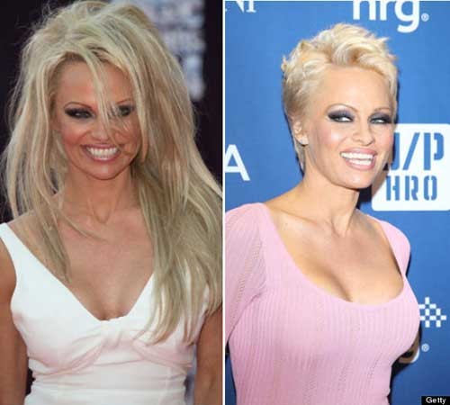 Pamela Anderson Blonde Pixie Haircut