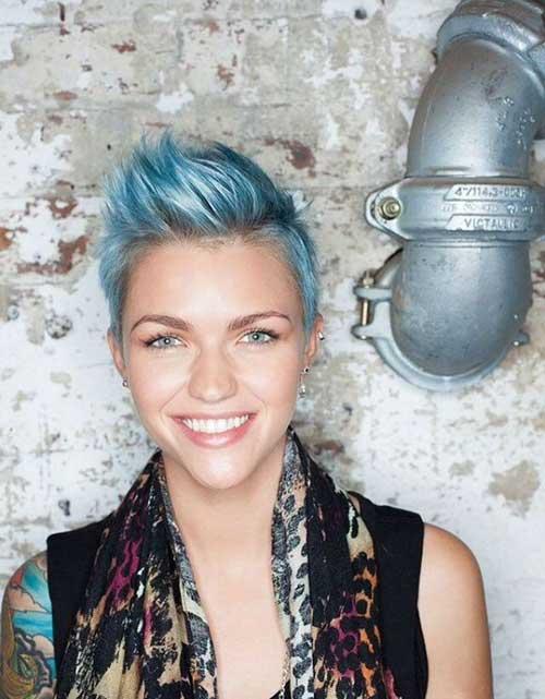 Pastel Blue Pixie Hair Color Ideas
