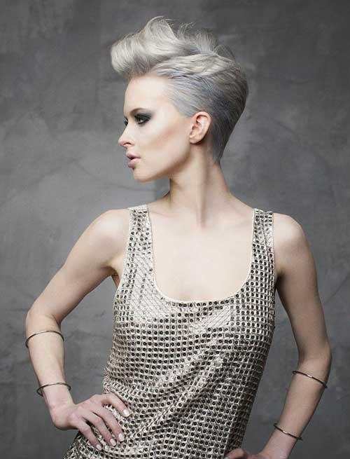 Pastel Grey Pixie Hair Ideas