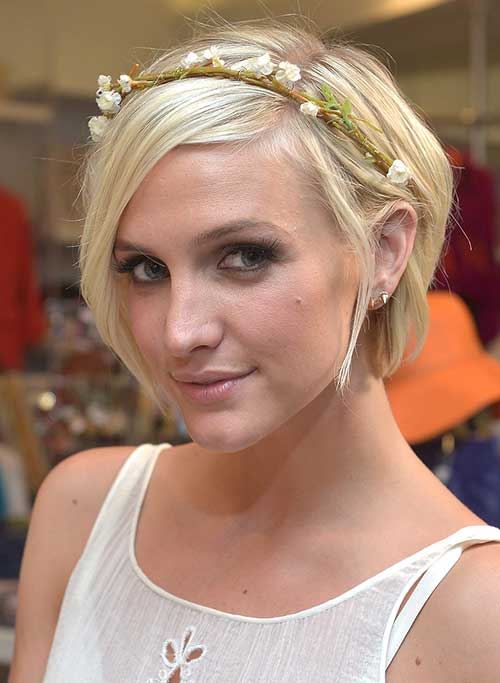 Pixie Bob Blonde Hairstyles Ideas for Wedding