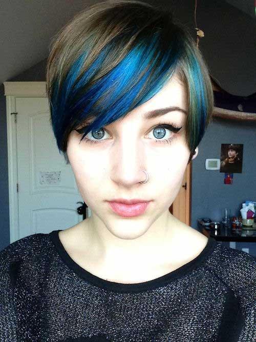 Pixie Cut Blue Colour