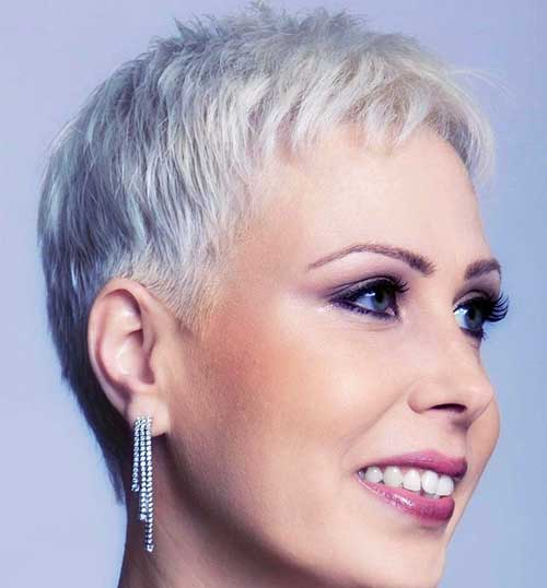 Grey Pixie Cut for Thin Hair