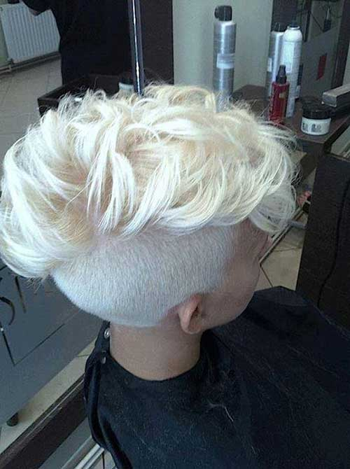 Blonde Pixie Cut with Mohawk