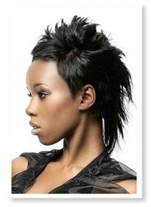 Pixie Cut with Mullet Mohawk Look