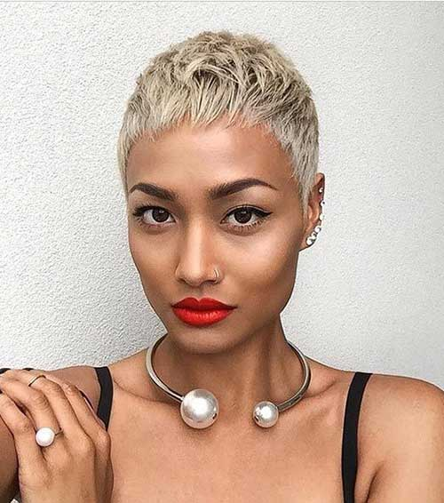 Blonde Pixie Hair Cuts for Black Women