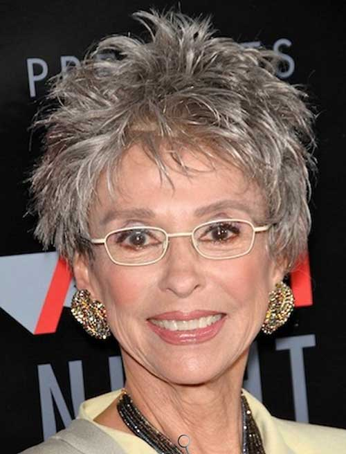 Grey Pixie Haircut for Older Ladies