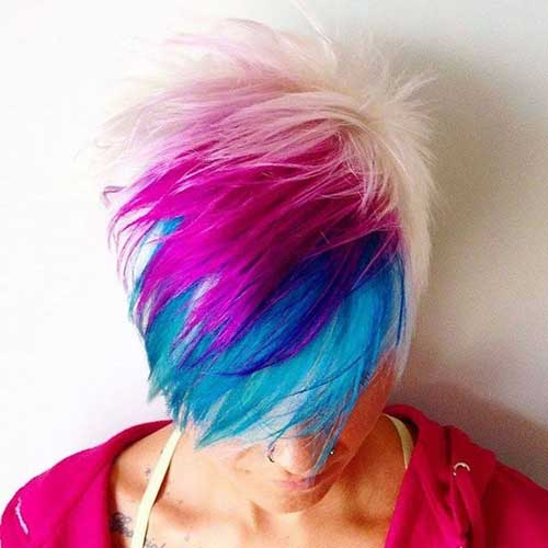 Pixie Haircut with Different Colors