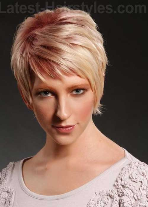Pixie Hairstyle Pink Colored