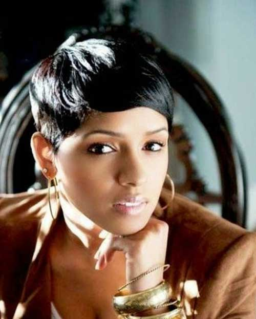 Chic Pixie Hairstyles Black Hair
