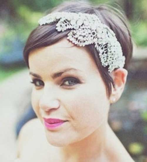 Pixie Hairstyles for Wedding with Headband