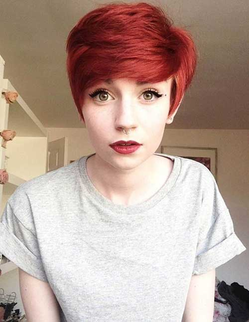 Pretty Red Pixie Haircuts