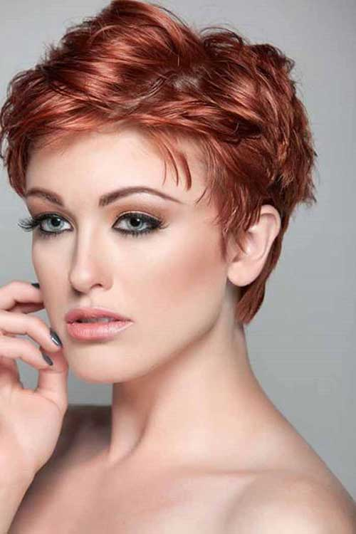 Best Red Wavy Pixie Hair Women