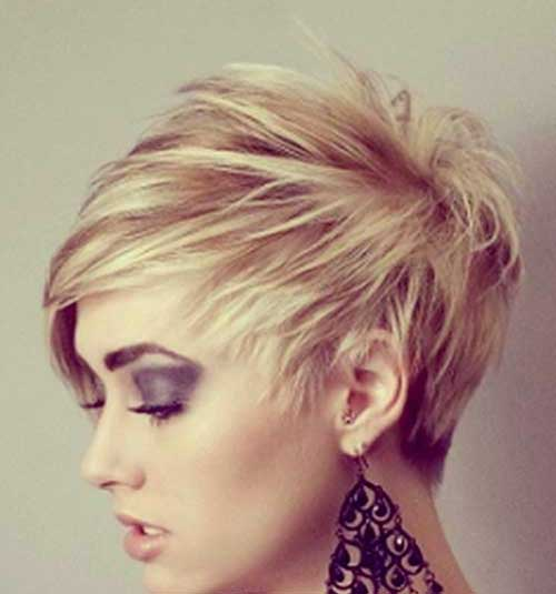 Short Asymmetrical Spiky Pixie Haircuts