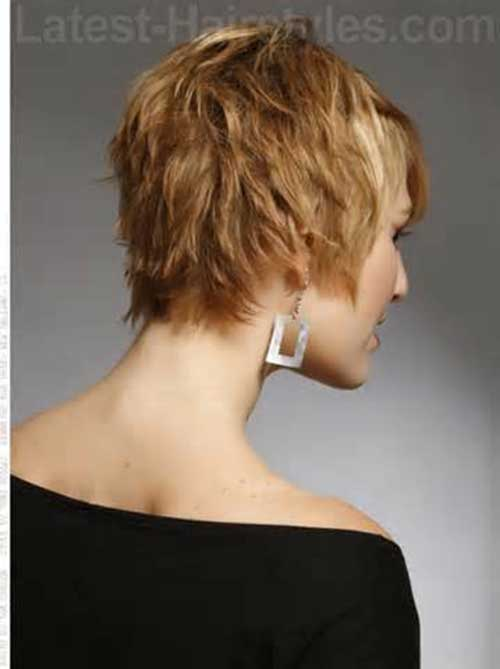 Short Pixie Back View Look