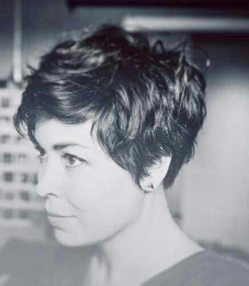Short Thick Wavy Pixie Haircuts