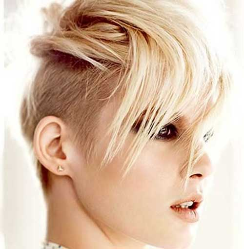 Side Undercut Shaved Pixie Cuts