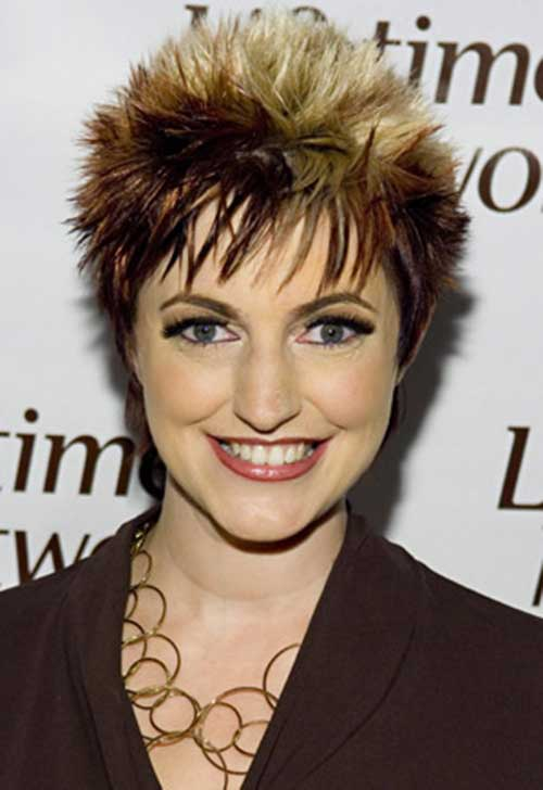 Spiked Highlighted Pixie Hair Cuts