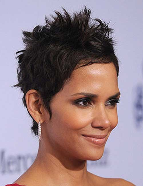 Spiky Medium Pixie Hairstyles