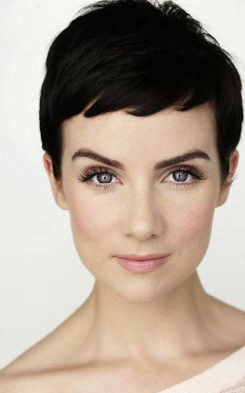 Textured Dark Chic Hair Pixie Cuts